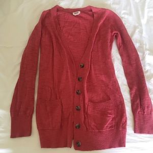 MOSSIMO long red cardigan